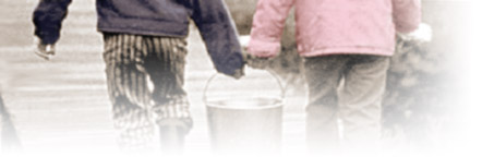 Picture: Two kids hauling water